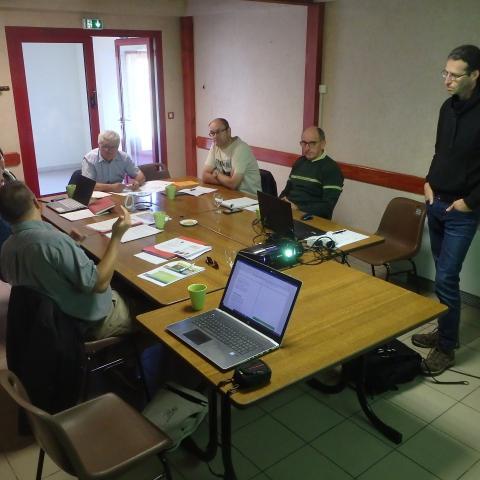 Réunion groupe de travail à Chalmessin