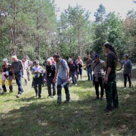 Le groupe dans la zone des lavières